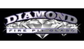 Diamond Fire Pit Glass