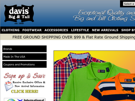 Davis Men's Store: Big & Tall Coupons