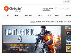 Origin Powered by EA Coupons