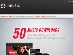eMusic Coupons