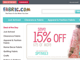 Fabric.com Coupons