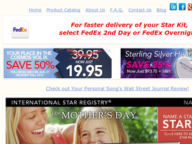 International Star Registry Coupons