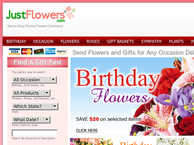 JustFlowers Coupons