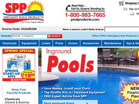 Specialty Pool Products Coupons