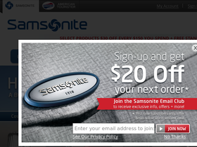 Samsonite Coupons