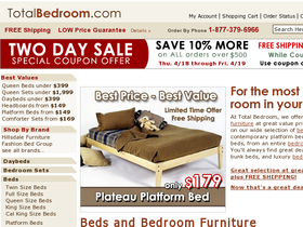 Total Bedroom Coupons