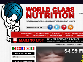 World Class Nutrition Coupons