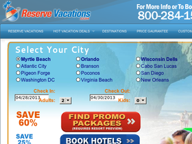 Reserve Vacations Coupons