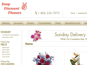 Deep Discount Flowers Coupons