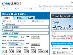 CheapOair Canada Coupons