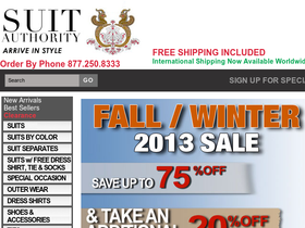 Suit Authority Coupons