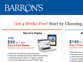 Barron's Magazine Coupons