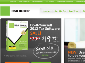 H&R Block AT Home Canada Coupons