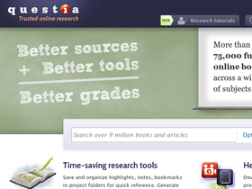 Questia Online Library Coupons