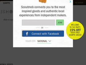 Shoppe by Scoutmob Coupons