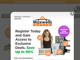 Maxwells Attic Coupons