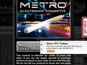 Metro eCigs Coupons