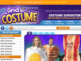 Find Costume Coupons