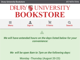 Drury Bookstore Coupons