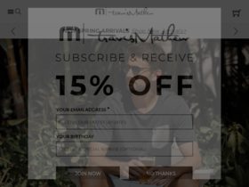 Travis Mathew Coupons